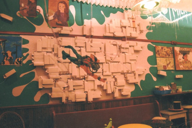 Installation, Spilled Milk | The Sea Biscuit Cafe, San Francisco