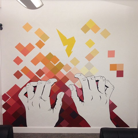 Commission for Lab Zero Innovations office, left wall | Battery Street, San Francisco