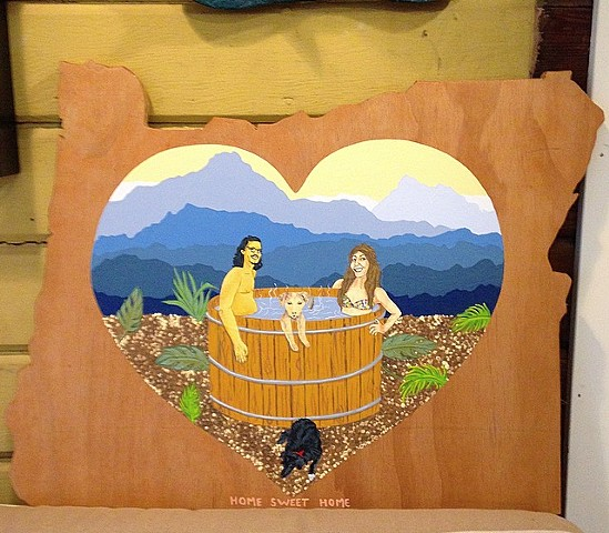 Oregon wood cut sign