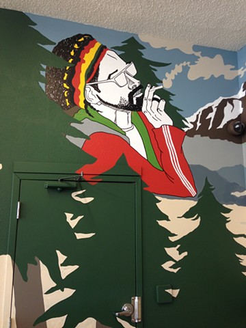 Detail, MSM Dispensary Mural