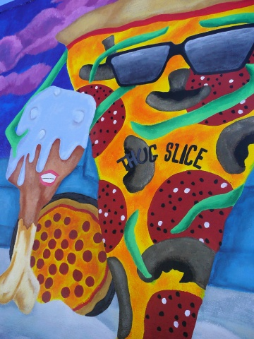 Detail, Pizza Place Mural