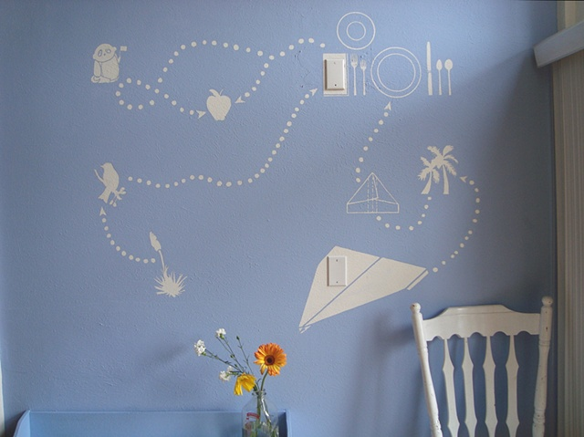 Detail, Breakfast Nook Mural