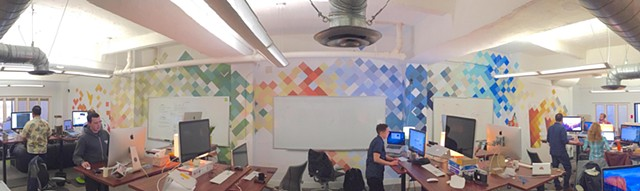 Commission for Lab Zero Innovations Office, wall span | Battery Street, San Francisco