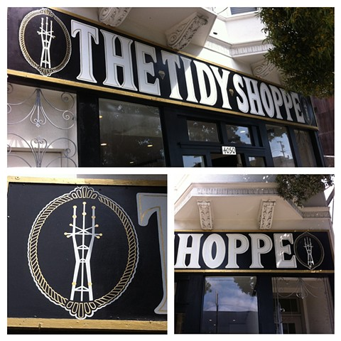store front signage for The Tidy Shoppe