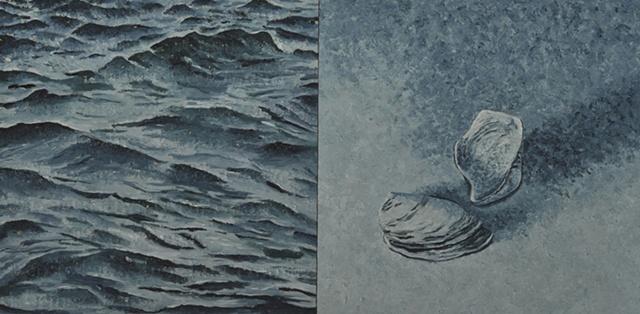 Joanne Aono Zebra Mussel Lake Michigan Oil Painting