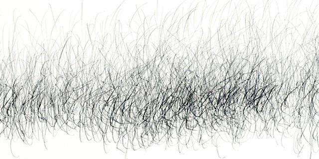 Joanne Aono Hashi Sticks Twin Graphite Drawing