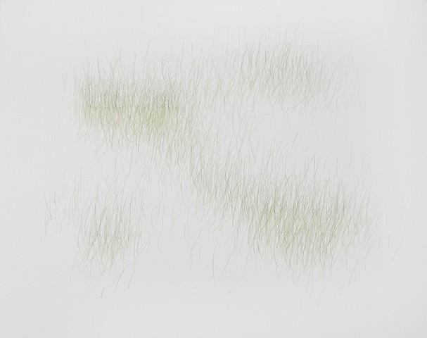 Joanne Aono, Green Fields, drawing, Laborer