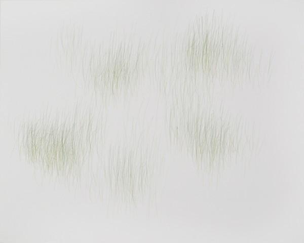 Joanne Aono, Green Fields, drawing, Nisei