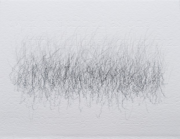joanne Aono Twin Futago Hashi Graphite Drawing