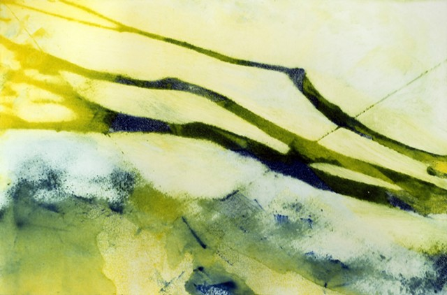 shadows watercolor yellow green blue