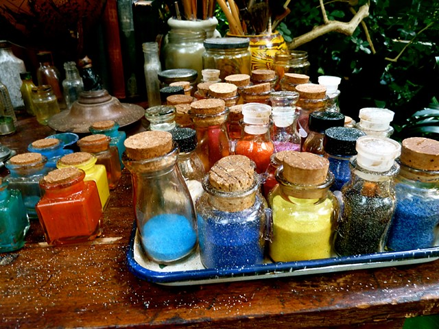 Frida Kahlo's paints, NYBG
