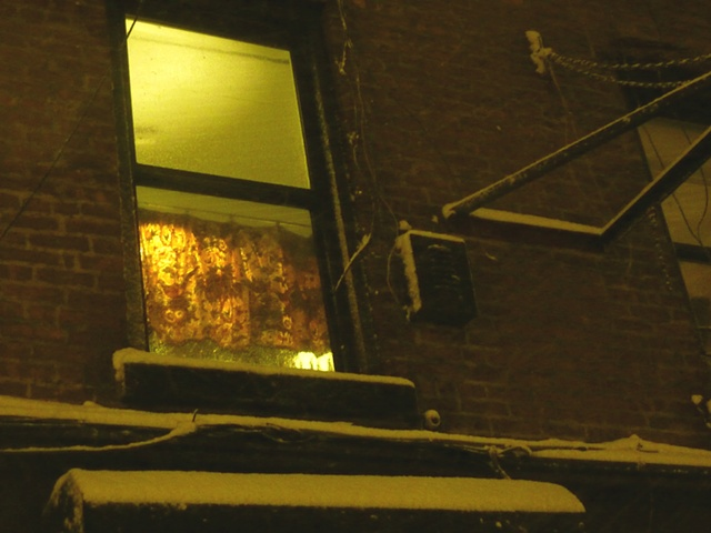 endless winter of 2010, Triangle building window.