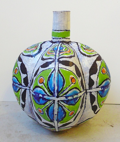 Lime Lobed Bottle