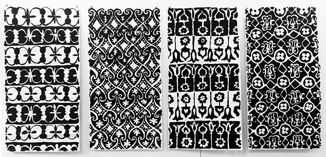 Four Patterned Scrolls
