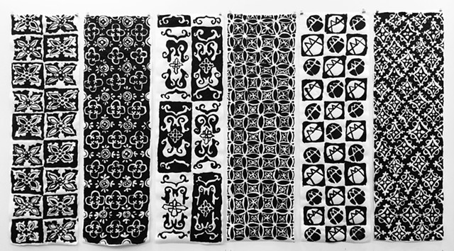 Six Patterned Scrolls
