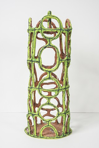Lime Birdcage with Circles