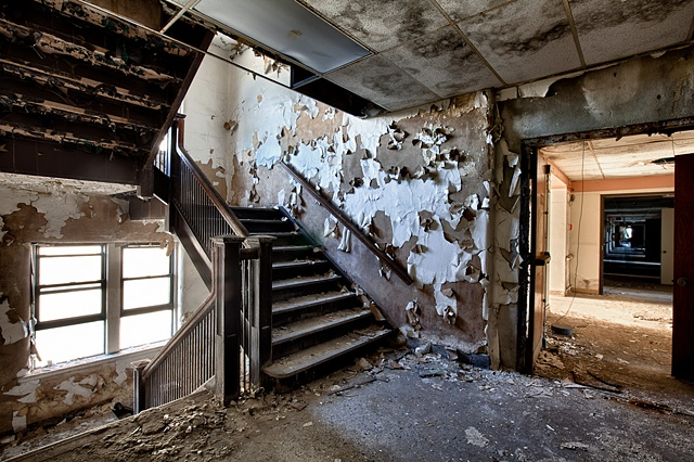 urban decay photography urbex beautiful deconstruction hospital Gary