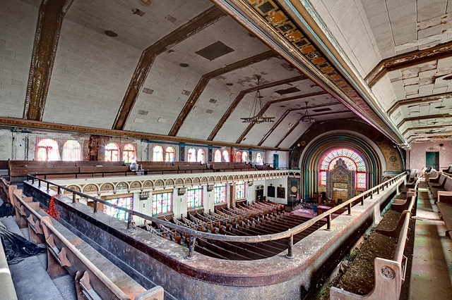 urban decay photography urbex beautiful deconstruction synagogue chicago