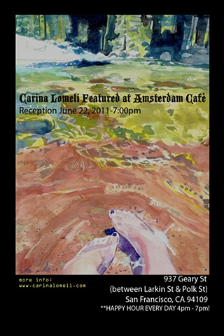 Carina Lomeli Featured at the  Amsterdam Cafe