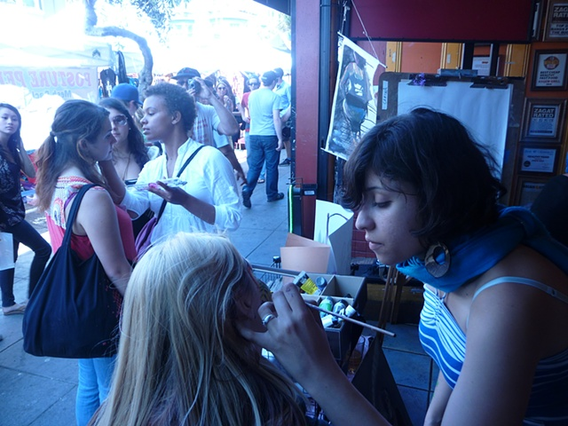 Live Painting @ the Haight Street Fair. Akew Grill