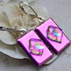 Fuchsia Dichroic Earrings
