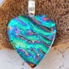JEWEL RIPPLES DICHROIC HEART PENDANT