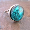 STERLING SILVER DICHROIC RING