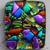 MOSAIC DICHROIC FUSED GLASS PENDANT