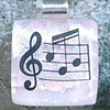 MUSIC...Fused Dichroic Glass Pendant