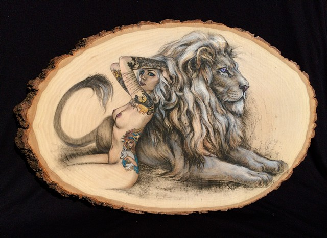 lion woman nude tattoo vice suicide girls suicide girls artwork art drawing buy aimee kuester art for sale original art