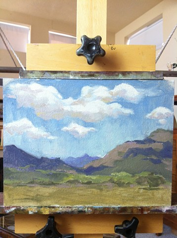 aimee kuester landscape NM new mexico taos plain air sky mountains for sale art painting oil