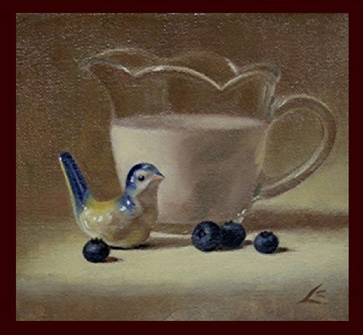 """bluebird, berries, and cream"""