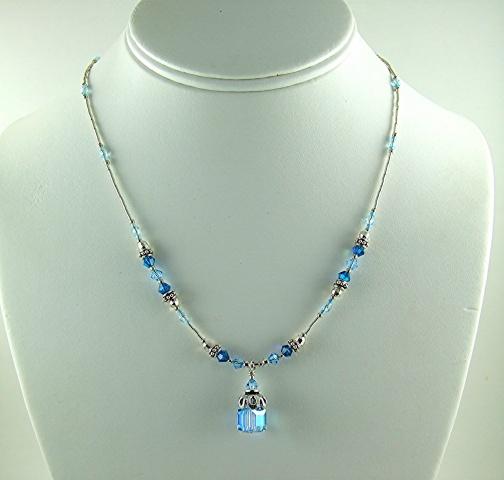 Blue Crystal Dangle