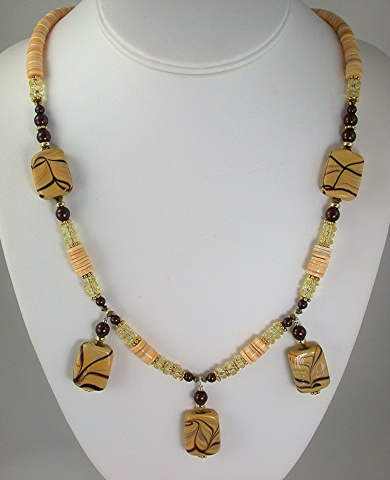Ceramic and Shell Necklace