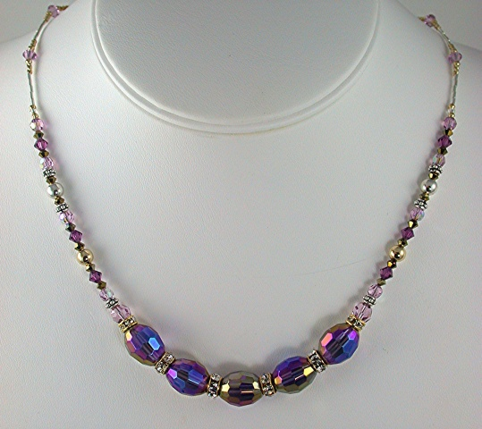 Crystal with Gold Fill Necklace
