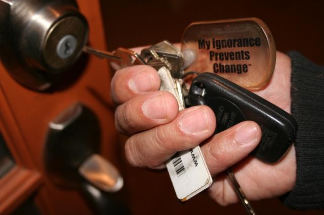 My Ignorance Prevents Change (Keychain), 2003