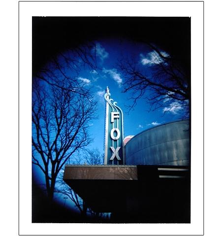 Aurora Fox Theatre sign Colfax Avenue Denver CO colorado polaroid Holgaroid