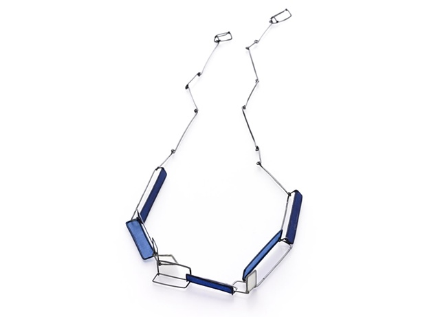 Ascending Series Necklace/Bracelet  Shown as a single strand unaccompanied necklace; can be worn as layered bracelet