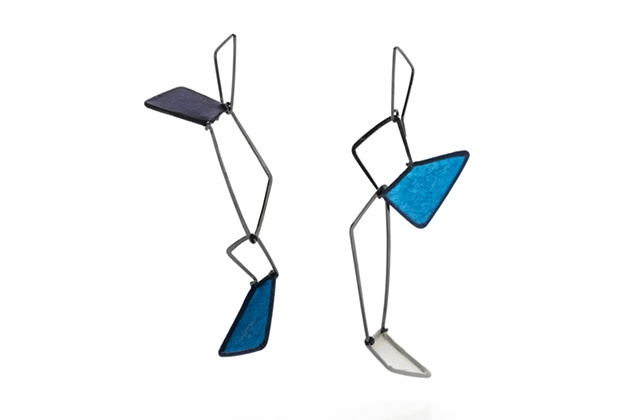Tilt Series Double Stacked Earrings