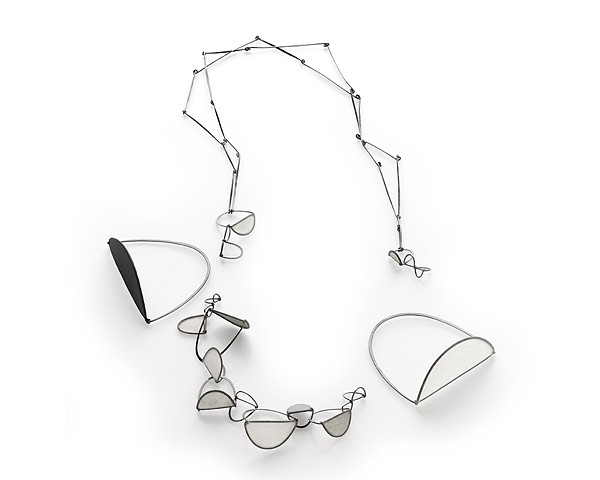 Crease Series III Necklace with detachable bracelet and two bangles