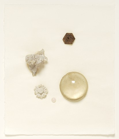 Composition Aggregate #2, mixed objects on paper