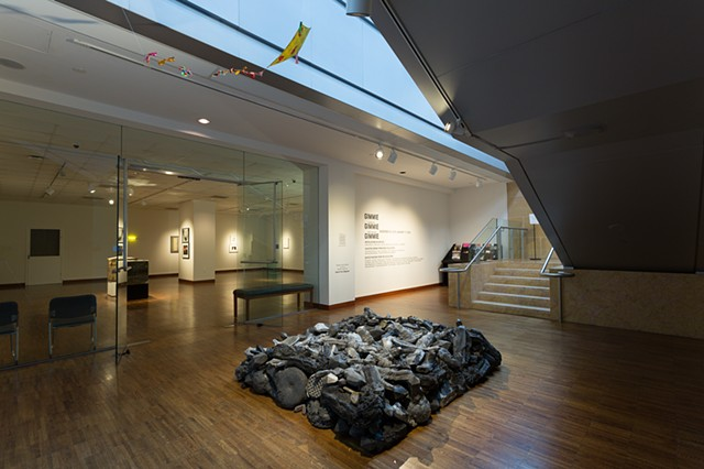 Heap, site sensitive installation at The Weston Art Gallery in Cincinnati, 2015-16.  Photo by Tony Walsh.  Heap moved from it's first installation at Proof Gallery in South Boston to The Weston Art Gallery in November 2015.  This is Heap's second site sen