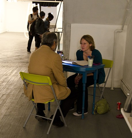 """Reading"" Performance at Gallery Aferro, Newark, NJ, Photo Credit: Jacob Mandel"