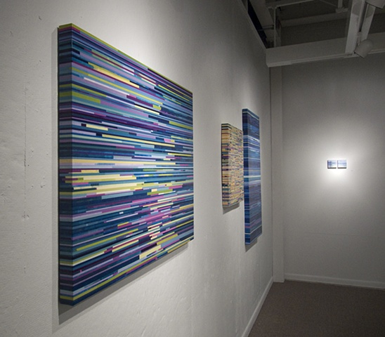 Installation view from Link Gallery at Kent State University Trumbull Campus. Works shown: Lillian Beyond Reach, Little Princess, Lillian Lost and Beaches.