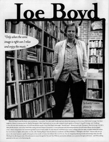 Producer/Author Joe Boyd