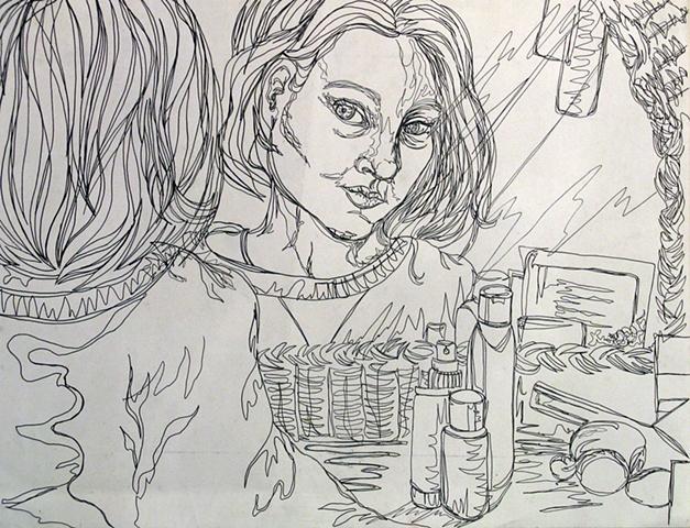 Contour Self Portrait