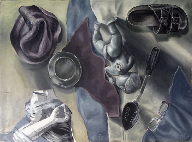 Painting Grayscale: Found Object Still Life