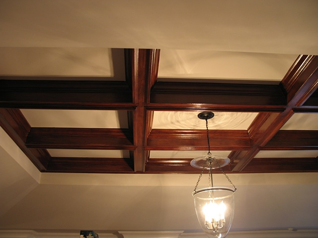 JohnIveyRainey - Faux mahogany coffered ceiling