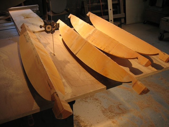 Cut out boat form blanks