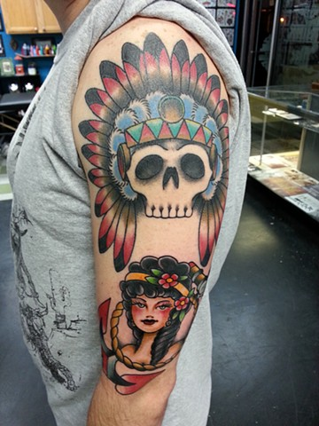 SKULL INDIAN HEADDRESS